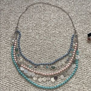 Adjustable and customizable statement necklace EUC